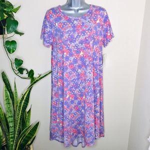LuLaroe Carly Pastel Floral Patterned Dress NWT